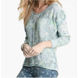 FREE PEOPLE Flower Bomb Sweater Floral Soft Wool